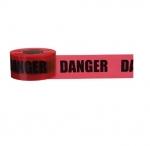 """3"""" x 1000', Barricade Tape, Danger, 2 Mils, Red"""