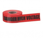 "3"" x 1000', Barricade Tape, Danger High Voltage Keep Out, Red"
