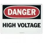 """Saftey Sign, """"Danger High Voltage"""", Fiberglass"""