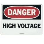 "Saftey Sign, ""Danger High Voltage"", Adhesive"