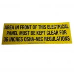 Safety Sign, Adhesive