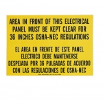 Safety Sign, Bilingual, Adhesive