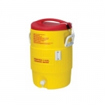 5 gal Water Cooler, Yellow & Red