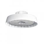 198W LED Round High Bay, 21573 lm, 120V-277V, 4000K, Frosted