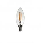 4W Filament Candelabra LED B10 Bulb, 300 lm, E12, 2700K