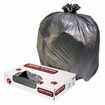 60 gal Low-Density Commercial Can Liners, Gray