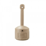 16 qt. Beige Smokers Cease Fire Receptacle