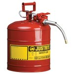 """5 Gallon Red Safety Can Type II AccuFlow 5/8"""" Hose"""