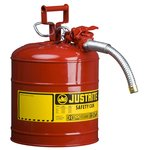 """5 Gallon Red Type II Safety Can w/AccuFlow 1"""" Hose"""