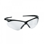 Safety Glasses w/ Clear Anti-Scratch Lens & Black Frame
