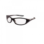 Anti-Scratch Safety Glasses, Clear Lens, Black Frame