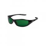 Anti-Scratch Safety Glasses, Green Lens, Black Frame