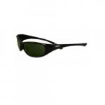 Anti-Scratch Safety Glasses, Dark Green Lens, Black Frame