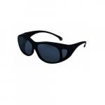 V50 OTG Anti-Scratch Safety Glasses, Smoke Mirror Lens, Black Frame