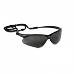 Safety Glasses w/ Smokey Anti-Scratch Lens & Black Frame
