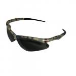 Safety Glasses w/ Smokey Anti-Scratch/Anti-Fog Lens & Camouflage Frame