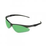 Safety Glasses w/ IRUV 5.0 Lens, Hardcoated, Green & Black