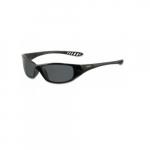 V40 Anti-Scratch Safety Glasses, Smoke Lens, Black Frame