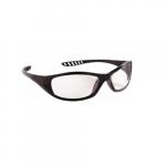 V40 Anti-Fog/Anti-Scratch Safety Glasses, Clear Lens, Black Frame