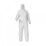 A35 Liquid and Particle Protection Coveralls with Hood, 2X Large, White