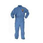A60 Blue Bloodborne Pathogen & Chemical Protection Coverall, L