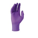 Box of 50 Purple Nitrile-xtra Beaded Cuff Exam Gloves