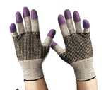 Black And White, Large G60 Purple Nitrile Gloves-Size 9
