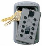 KeySafe Original Slimline Push, 2 Key Holder, Titanium