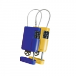 Portable Stor-A-Key, Blue & Yellow