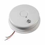 120V AC/DC Combination Smoke & Carbon Monoxide Alarm w/Voice, 10 Yr Sealed Battery Backup