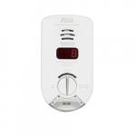 120V Plug-in Carbon Monoxide Alarm w/Exit Light, 10 Yr Sealed, Digital Display