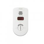 120V AC/DC Plug-in Carbon Monoxide Alarm, 10 Yr Sealed Backup, Digital Display, 6 Pack