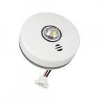 120V AC 2-in-1 LED Strobe Smoke Alarm w/Voice, Synchronized Flash, 10 Yr Sealed Battery
