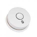 120V AC/DC Wireless Smoke Alarm w/Voice, Photoelectric Sensor, 10 Yr Sealed Battery