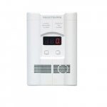 120V AC/DC Plug-in Operated CO and Explosive Gas Alarm w/ Digital Display