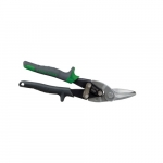 Right Cutting Aviation Snips with Wire Cutter, Gray & Green