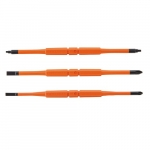 Double-End Screwdriver Blades, Insulated, 3 Pack