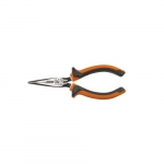 "Insulated Long Nose 6"" Slim Side-Cutting Pliers, Orange & Gray"