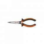 "Insulated Long Nose 7"" Slim Side-Cutting Pliers, Orange & Gray"