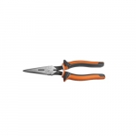 "Insulated Long Nose 8"" Slim Side-Cutting Pliers, Orange & Gray"
