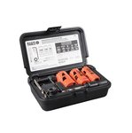 Three-Piece Electrician's Hole Saw Kit with Arbor Saw