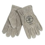 Extra Large Gray Durable and Tough Cowhide Driver's Gloves