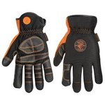 Klein Tools Electrician's Gloves for Wire or Cable Pulling- Large