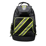 Black Tradesman Pro High Visibility Backpack with Zipper Closure