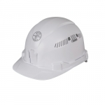 Hard Hat, Cap Style, Vented, White