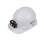 Non-Vented Hard Hat w/ Rechargeable Headlamp, Cap Style, White