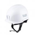 Non-Vented Safety Helmet, Class E, White