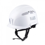 Vented Safety Helmet, Class C, White