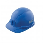 Non-Vented Hard Hat, Cap Style, Blue