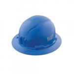 Non-Vented Hard Hat, Full Brim, Blue